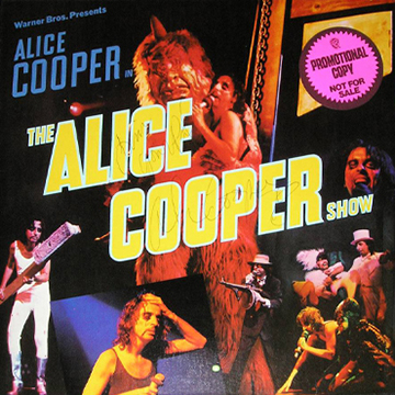 myRockworld memorabilia_ Alice Cooper - Album The Alice Cooper Show, 1977 /signed by Alice Cooper with nice words Time gone pal
