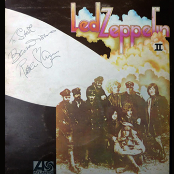 myRockworld memorabilia: Led Zeppelin - Album II, 1969, ultra rare ORIGINAL UK 1st PRESS LP, personally signed by Robert Plant in London 1970 to Steve, his fav cook.