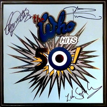 myRockworld memorabilia: The Who - Tourprogramme the Who hits 50, 2015, signed by Roger Daltrey, Pete Townshend and Zak Starkey