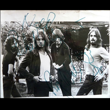 myRockworld Memorabilia: Pink Floyd pic - ultra rare, signed by Nick Mason, David Gilmour, Roger Waters and Rick Wright R.I.P