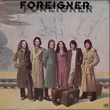 myRockworld memorabilia: Foreigner, 1977 vinyl LP, signed Lou Gramm, Ed Gagliardi R.I.P., Mick Jones, Dennis Elliot, Al Greenwood and Ian McDonald