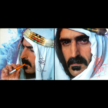 myRockworld memorabilia: Frank Zappa - Album Sheik Yerbouti, 1979, ultra rare, signed on the back by Frank Zappa