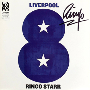 myRockworld memorabilia: Ringo Starr, Liverpool 8, Single, 2008, rare, signed by Ringo Starr
