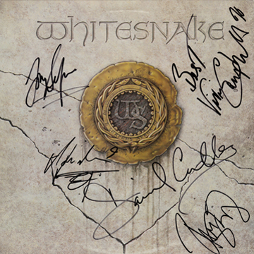 myRockworld memorabilia: Whitesnake, 1987, Vinyl LP signed by David Coverdale - Adrian Vandenberg - Vivian Campbell - Rudy Sarzo - Tommy Aldridge