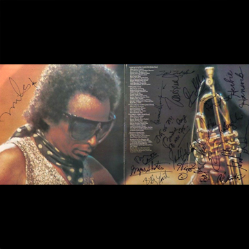 myRockworld memorabilia: Miles Davis, LP Big Fun, 1974, Ultra rare, signed by Miled Davis (on the Back cover and inside) , signed inside by Jazz Superstars Lonnie (Liston) Smith, Benny Maupin, Joe Zawinul, Dave Holland, etc.