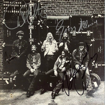 "myRockworld memorabilia: The Allman Brothers Band - Album - at Fillmore East, 1971, signed by Gregg Allman, Dickey Betts, Jai Johanny ""Jaimoe"" Johanson and Butch Trucks"