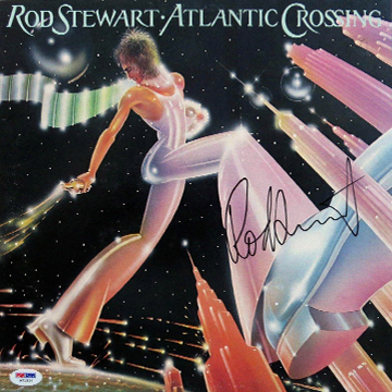 myRockworld memorabilia: Rod Stewart - Atlantic Crossing, 1975, vinyl LP, signed by Rod Stewart
